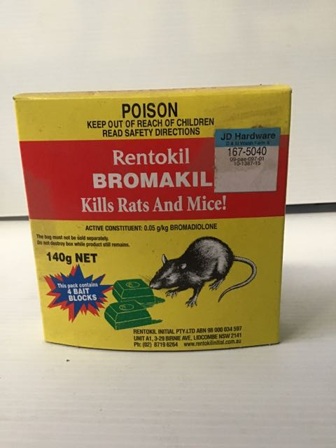 Bromakil Rat Bait Blocks 140g