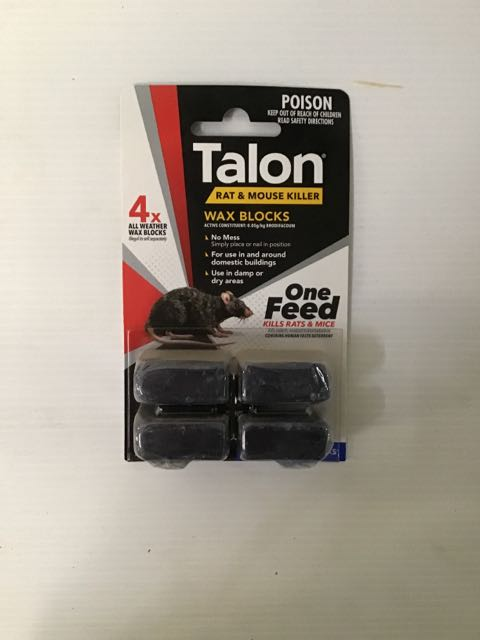 Talon Rodenticide Wax Block72g