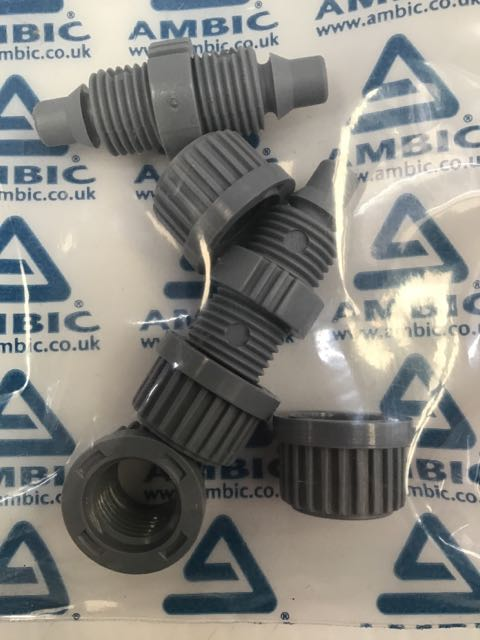 AMBIC 2 STRAIGHT CONNECTORS FOR TEAT SPRAY GUN