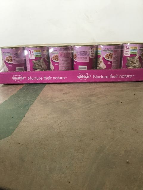 CAT FOOD WHISKAS RURAL 24 X 400GM CANS